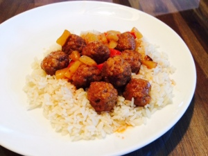 Gluten Free, Dairy Free Crockpot Sweet and Sour Meatballs